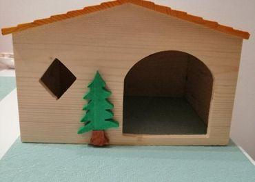 Drevený domček pre škrečka,morča,ježka 28x22x19cm