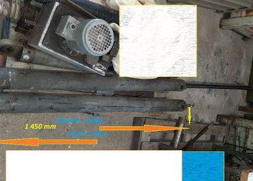 Hydraulický valec MAXI -výsuv 80x40x1250mm-výsuv piestnice