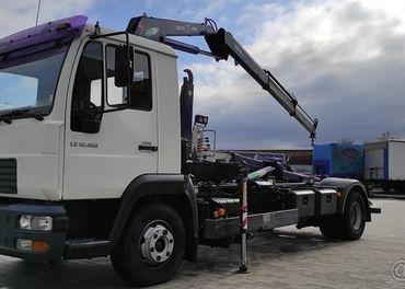 MAN LE 12.180 7t nosič kontejnerů + hydraulický ruka