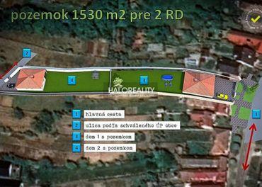 Predaj, pozemok pre rodinný dom 1530 m2 Bučany