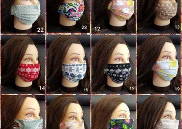 Bavlnene rusko skladané aj novinka v tvare masky