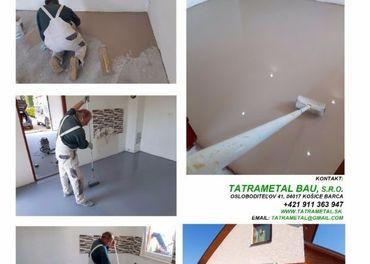 Podlahy liate, potery, nivelácie, dlažby - kvalita a cena