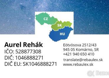 Preklady a korektúry v SK, HU a CZ jazyku