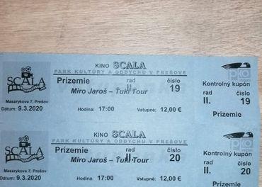 Lístky na Mira Jaroša