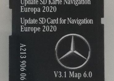 Mapy SD Karta Mercedes Garmin Map Pilot NTG5.5 2020  V6