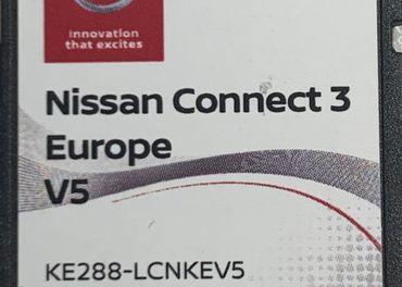 Mapy SD karta Nissan connect 3 - Europa V5 2020