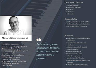 Základná umelecká škola sv.Cecílie  - Hra na klavíri,  keyboarde