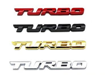 3D logo TURBO z kovovej zliatiny,pochromované+samolepiaca fólia