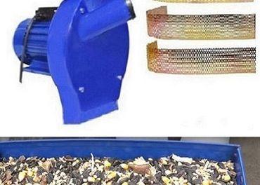 Šrotovník na obilie - motor na 220V 4 ks sitá+nožnice+doklad