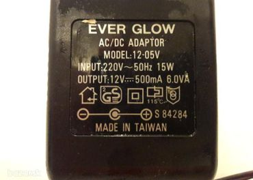 Adaptér - Ever Glow 12 V - 05V, OUTPUT:12 V 500 mA