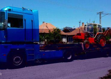 Preprava podvalnikom strojov,traktorov,techniky