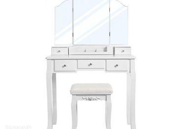 Toaletný stolík VASAGLE biely - RDT28WT  Toaletný