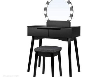 Svietiaci toaletný stolík Songmics - RDT11BL Vytvo