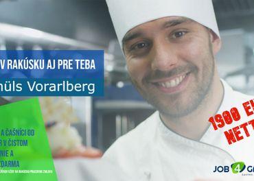 Samostatný kuchár 5 dni v týždni Rakúsko 2000 nett