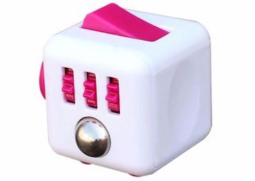 Antistresová kocka FIDGET CUBE bielo-ružová