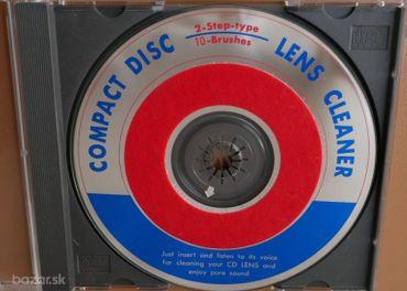Čistiace CD na optiku prehrávačov CD, CD-ROM, DVD