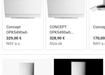 Predám nový digestor Concept OPK5490wh