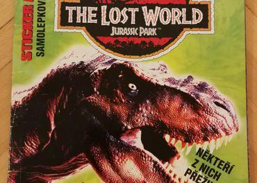 Nalepkovy album The Lost World Jurassic Park