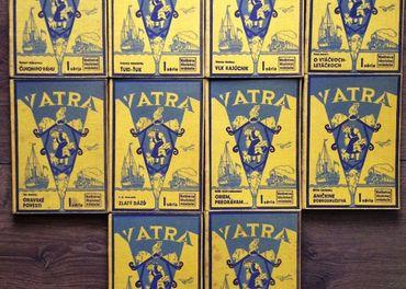 10 zväzkov krásnej edície Vatra - Knižnica školskej mládeže