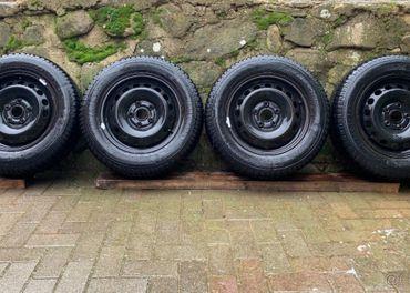 5x114,3 R15 plechové disky+zimné pneu