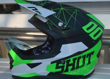 Prilba SHOT zelená neon
