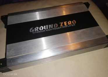 subwoofer GROUND ZERO 600W RMS +zosilovač