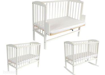 Detská postielka k posteli 3v1, aj s 2 matracmi