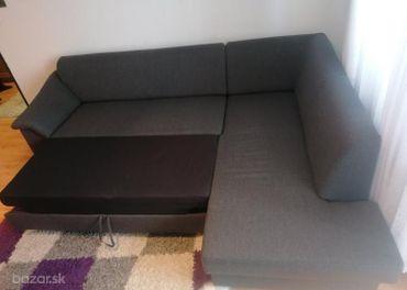 Rozkladacia rohová sedačka s úložným priestorom