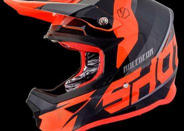 SHOT ULT čierno/oranžová neon MX prilba