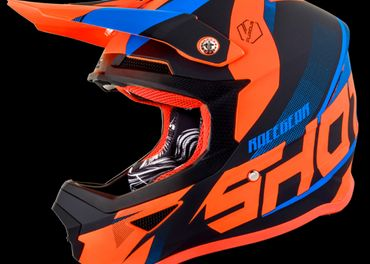 SHOT ULT modro/oranžová neon MX prilba