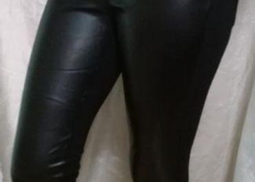 nohavicové legíny kožený vzhľad L,XL