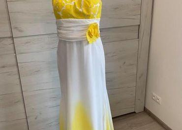 Spoločenské šaty EP - žlté, veľkosť M