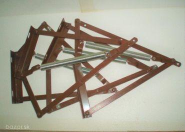 dva páry výklopných posteľových kovaní KP1