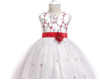 Detské šaty L5022 - naša 134, skladom