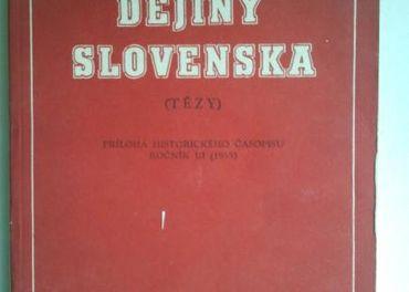 Dejiny Slovenska: tézy, Ludovít Holotík