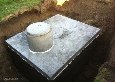 Betónové žumpy, žumpa  septik, nádrž na dažďovú vo