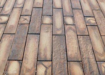 Dlažba imitácia dreva, vymývaná dlažba.