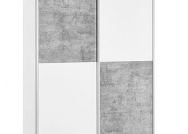 Skriňa sivo-biela