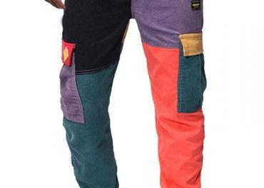 Panske crazy patchwork nohavice velkost XL