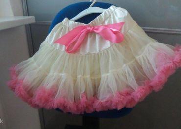 Béžovo-ružová pettiskirt/tutu sukňa