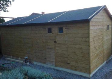Záhradný drevený domček 3 x 6m