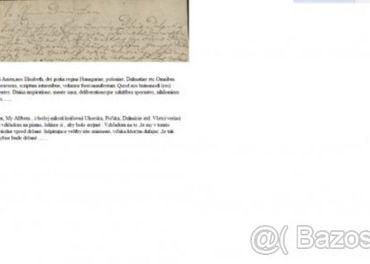 Preklad a prepis latinskych textov a listin