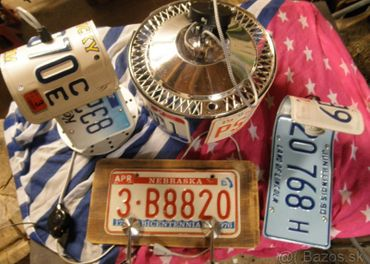 Lampy ROUTE 66 American license plate collection