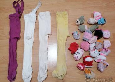 Predám ponožky a pančušky pre dievčatko 1-2 roky