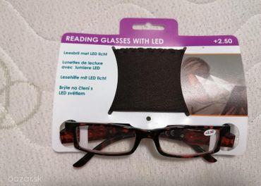 dioptrické okuliare s LED svetielkami