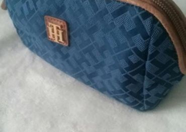 Kozmetická taška  modro - hnedá