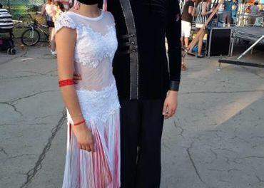 Tanečné šaty na spoločenské tance na latinu na výš