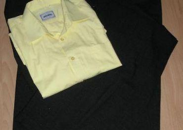 pánsky šedý oblek, 50/52 + košeľa