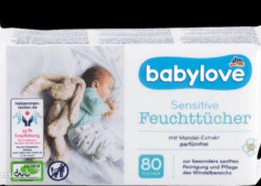 NOVÉ balenia 80ks babylove vlhčené utierky