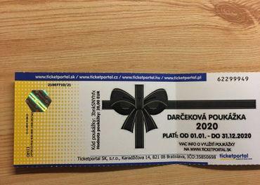Darčeková poukážka Ticketportal